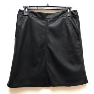 Ann Taylor Loft | A Line Faux Leather Mini Skirt